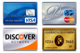 Visa Mastercard Discover and American Express Accepted in 91789